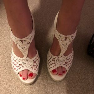 Lucky Brand Roped Wedges Size 9